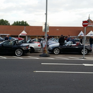 Tesco Car Park meet up before heading to the circuit